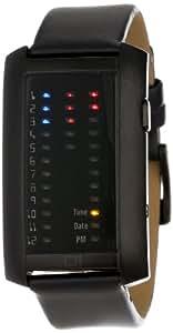 The One - IR202RB1 - Montre Homme - Quartz - Système affichage binaire par Led - Bracelet en Cuir noir
