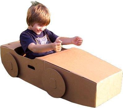 Paperpod Cardboard Car (Brown)