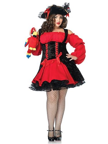 Plus Size Vixen Pirate Wench Costume, 3x/4x