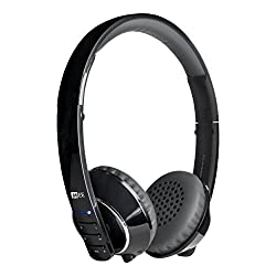 MEE Audio Air-Fi AF32 Stereo Bluetooth Wireless Headphones with Hidden Mic for iPhone iPod Touch iPad Android Phones - Black/Grey