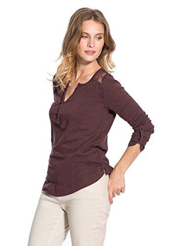 Balsamik - Maglietta maniche regolabili, dettagli in pizzo - donna - Size : 42/44 - Colour : Viola
