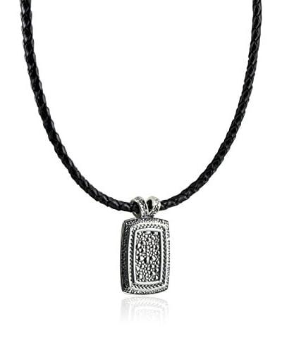 Baldessarini Collar Y2068N Negro / Plateado