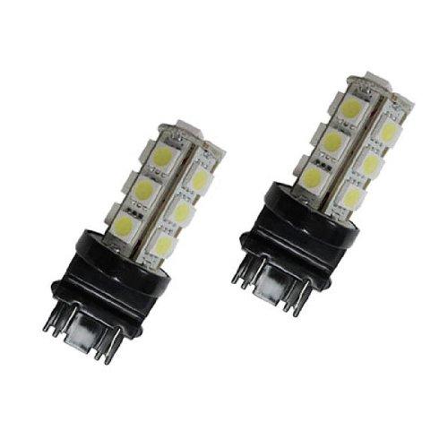 Agt 3157 3057 Pair Led Smd 18 Led Bulbs Brake Stop Red (Pack Of 2)