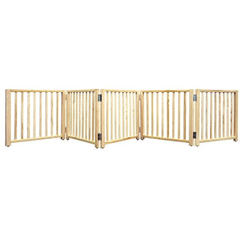 four-paws-wood-folding-5-panel-dog-gate-48-110-x-17-h