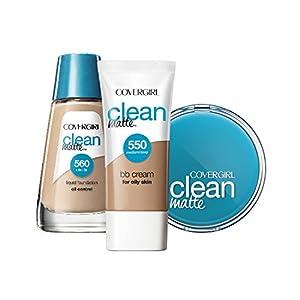 COVERGIRL Clean Matte BB Cream Medium/Deep 550 For Oily Skin, 1 oz
