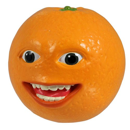 Annoying Orange 2 1/2 Inch Talking PVC Figure Smiling Orange - 1