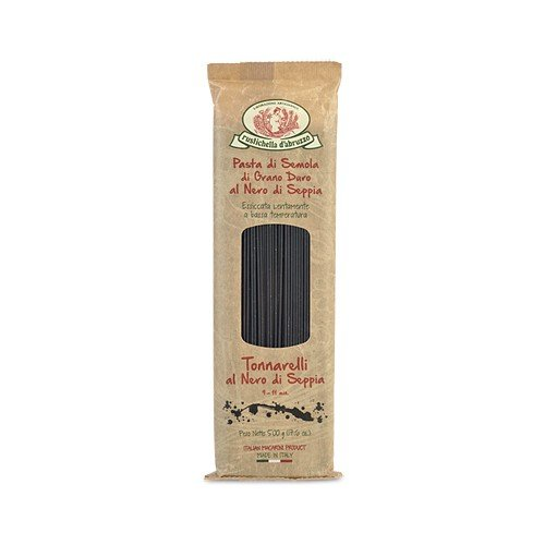 Rustichella d'Abruzzo Durum Wheat Squid Ink Tonnarelli (Spaghetti) Pasta - 17.6 oz (Black Ink Spaghetti compare prices)