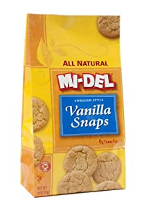 Mi-Del Swedish Style Vanilla Snaps, 10 Ounce Bags (Pack of 12)