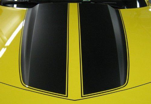 "2010 – 2011 – 2012 – 2013 Camaro ""Factory Style Hood"" Stripe Graphic Set"