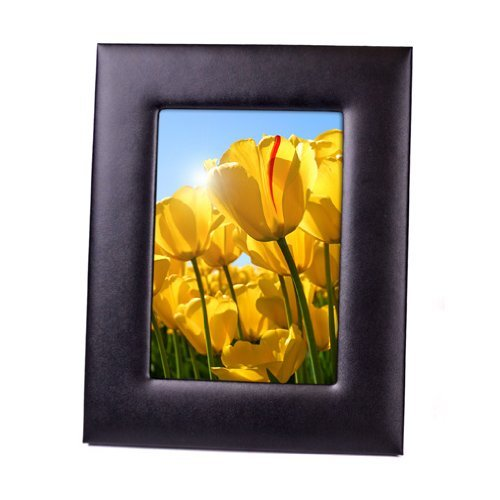 Royce Leather Mansfield Picture Frame, Black - 5