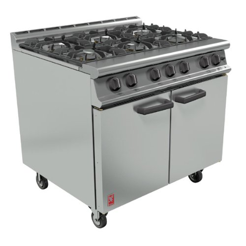 Falcon 2/1GN 6 Burner Oven Range - G3101 - 900(w)770(d)890(h)mm - Pack Size: Single