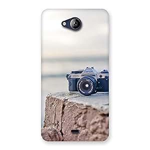 Premium Vintage Camera Multicolor Back Case Cover for Canvas Play Q355