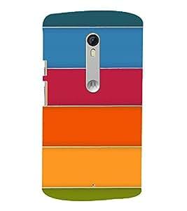 MULTICOLOURED STRIPES PATTERN 3D Hard Polycarbonate Designer Back Case Cover for Motorola Moto X Style