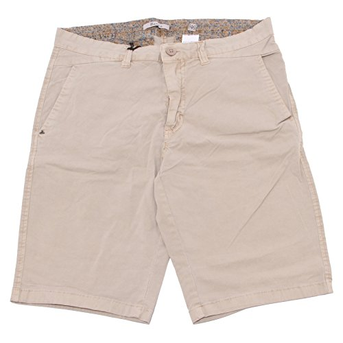0010Q bermuda uomo BERNA WAVES beige pantalone corto short men [46]