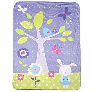 "Bunny Print Valboa Blanket - 30"" x 40"" - 1"