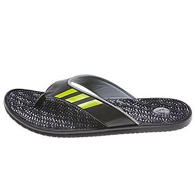 Adidas Adissage Thong gr Sandal - Black/Tech Grey/Solar Slim - Mens - 8