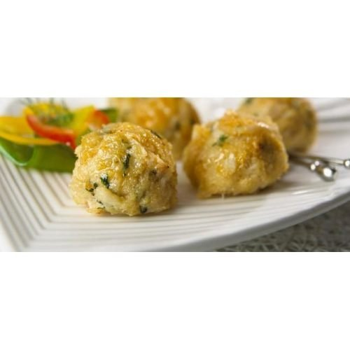 New Wave Kaptains Ketch Handmade Mini Extra Fancy Crab Cake, 0.65 Ounce -- 98 per case.
