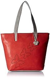 Butterflies Women's Handbag (Red) (BNS 0589RD)