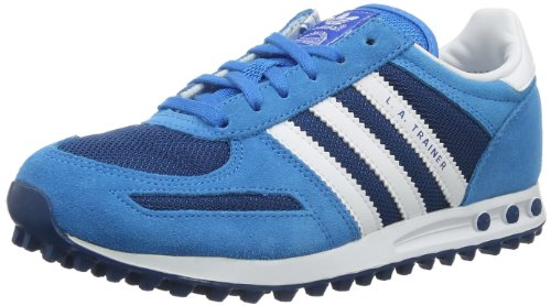 Adidas Originals Unisex-Child LA Trainer K-3 Trainers D67903 Tribe Blue/Running White/Running White FTW 5 UK, 38 EU