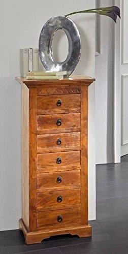 OXFORD CASSETTIERA #0523 Acacia miele massiccio b / H/T circa 47x112x43 massiccio stile coloniale