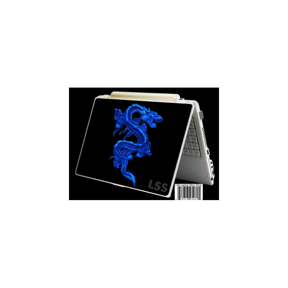 Laptop Skin Shop Laptop Notebook Skin Sticker Cover Art Decal Fits 13.3 14 15.6 16 HP Dell Lenovo Asus Compaq (Free 2 Wrist Pad Included) Blue Dragon