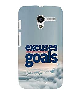 EPICCASE No Excuses for Success Mobile Back Case Cover For Moto X (Designer Case)