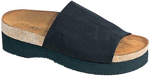 Women's Naot TAMPA Slide Sandals BLACK 41 M EU, 10 M