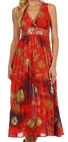 Sakkas West Indies Empire Waist Dress