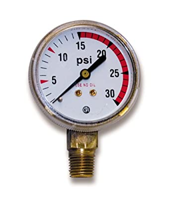 US Forge 08036 Victor Style Low Pressure Gauge for Acetylene Regulators 0-30 P.S.I. with Red Zone