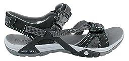 Merrell Women\'s Azura Strap Sandal,Black,8 M US