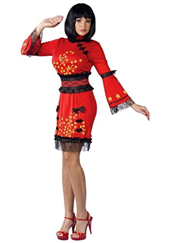 China Doll Costume - Adult Costume