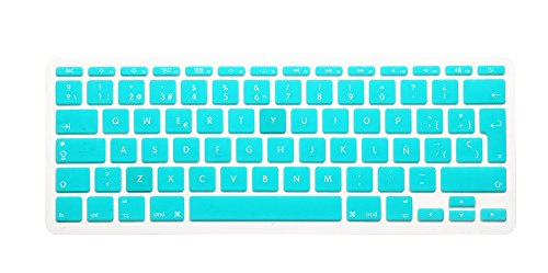 New Spanish Air 11 Silicone Skin Keyboard Cover Protector For Apple Macbook Air 11 11.6 Inch Keyboard Protective Film^mint green.