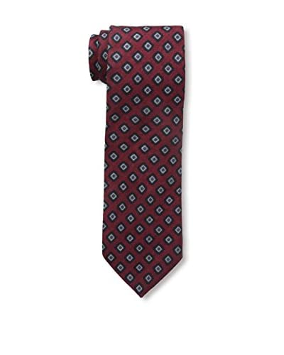 J.McLaughlin Men's Diamond Wool Tie, Red/Blue
