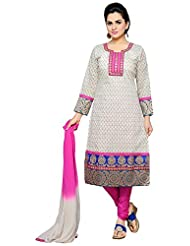 Roopali Creations Women's Chanderi Silk Salwar Suit Set - B013SVQOJI