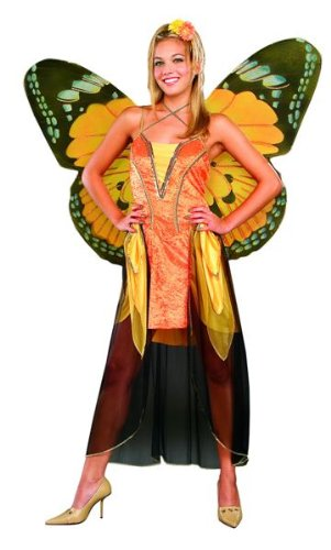 Adult Orange Butterfly Costume with Wings