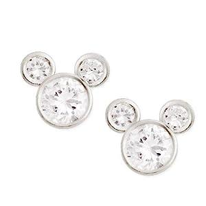 Sterling Silver Disney Cz Mickey Mouse Stud Earrings by Jacmel