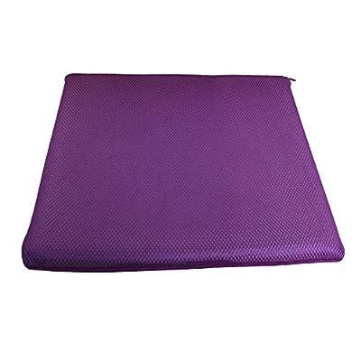 Jambo Gepolstertes Sitzkissen Stuhlauflage Memory Foam mit Reißverschluss lila