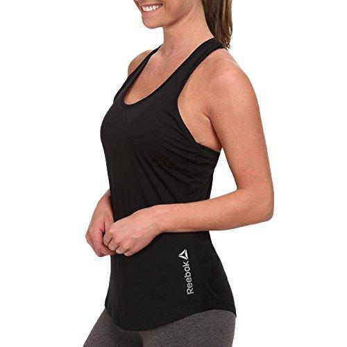 Reebok -  T-shirt - Senza maniche  - Donna Black 16-18