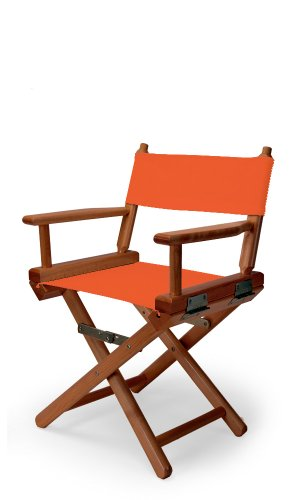 Telescope Casual Child'S Director Chair, Orange With Walnut Frame