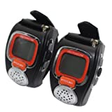 Portable Digital Wrist Watch Walkie Talkie Two-Way Radio for Outdoor Sport Hiking, 462MHZ, black, 2pcs - Best Reviews Guide