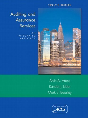 Auditing and Assurance Services (12th Edition) 12th Edition by Arens, Alvin A; Elder, Randal J.; Beasley, Mark published by Prentice Hall Hardcover
