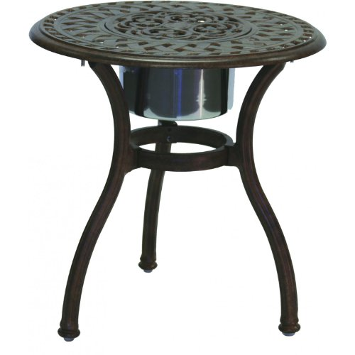 Cheap Darlee Series 60 Cast Aluminum Patio End Table With Ice Bucket Insert – Antique Bronze (201060-RQ)