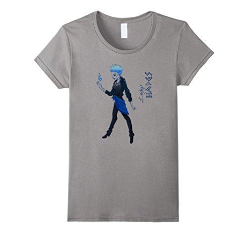 Women's Lady Hades-halloweens t shirt Medium Slate ()