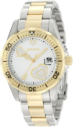 Invicta Pro Diver 12287 38mm Stainless Steel Case Multicolor Two Tone Stainless Steel Mineral Women's Watch