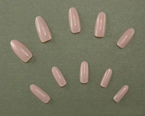 500pcs 10 Size Artificial Selections Full Nails Nail Tips Colors Style Nude Pink