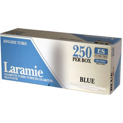 Laramie Light Cigarette Tubes King Size (10 Boxes/ 250 Ct Per Box =2500 Tubes) Compare to Premier Light