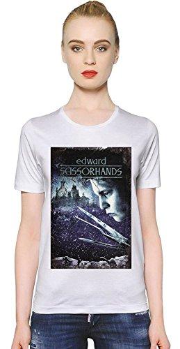 Edward Scissorhands Poster T-shirt donna Women T-Shirt Girl Ladies Stylish Fashion Fit Custom Apparel By Slick Stuff XX-Large