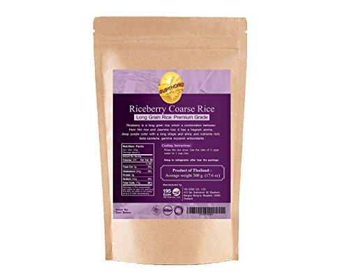 Supthong Long Grain Brown Coarse Riceberry Rice (17.6 Oz.) (Persian Blue Popcorn compare prices)