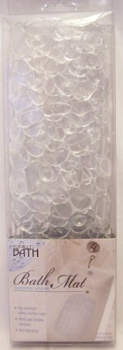 Totally Bath Smooth Stone Effect Bath Mat - Clear - 1