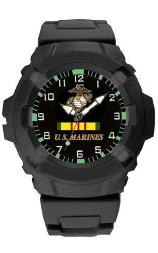 Marine Corps Usmc Vietnam Rubber Strap Watch